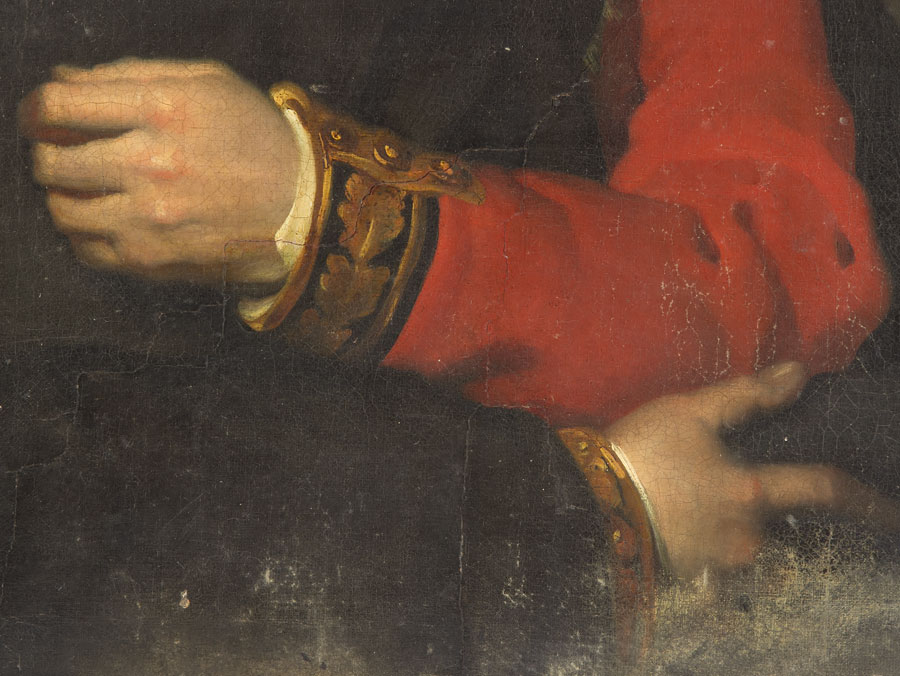 Arm Detail - Portrait of Arthur Wellesley, 1st Duke of Wellington