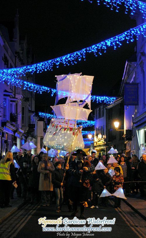 Lantern Parade on Plymouth Barbican