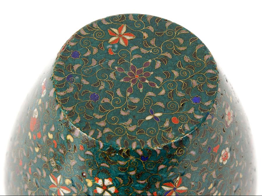 c1860 Kaji Tsunekichi Style Japanese Cloisonne Vase